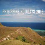 PHILIPPINE HOLIDAYS 2018